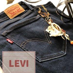Levi 529 Curvy Bootcut Dark Blue Wash Jeans 14